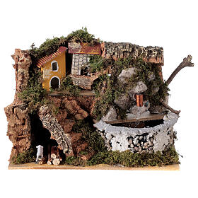Fontaine crèche en pierre 15x20x15 cm pour crèche 8-10 cm s1