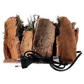 Villaggio con fuoco elettrico 15x20x15 cm per presepi 8-10 cm s4