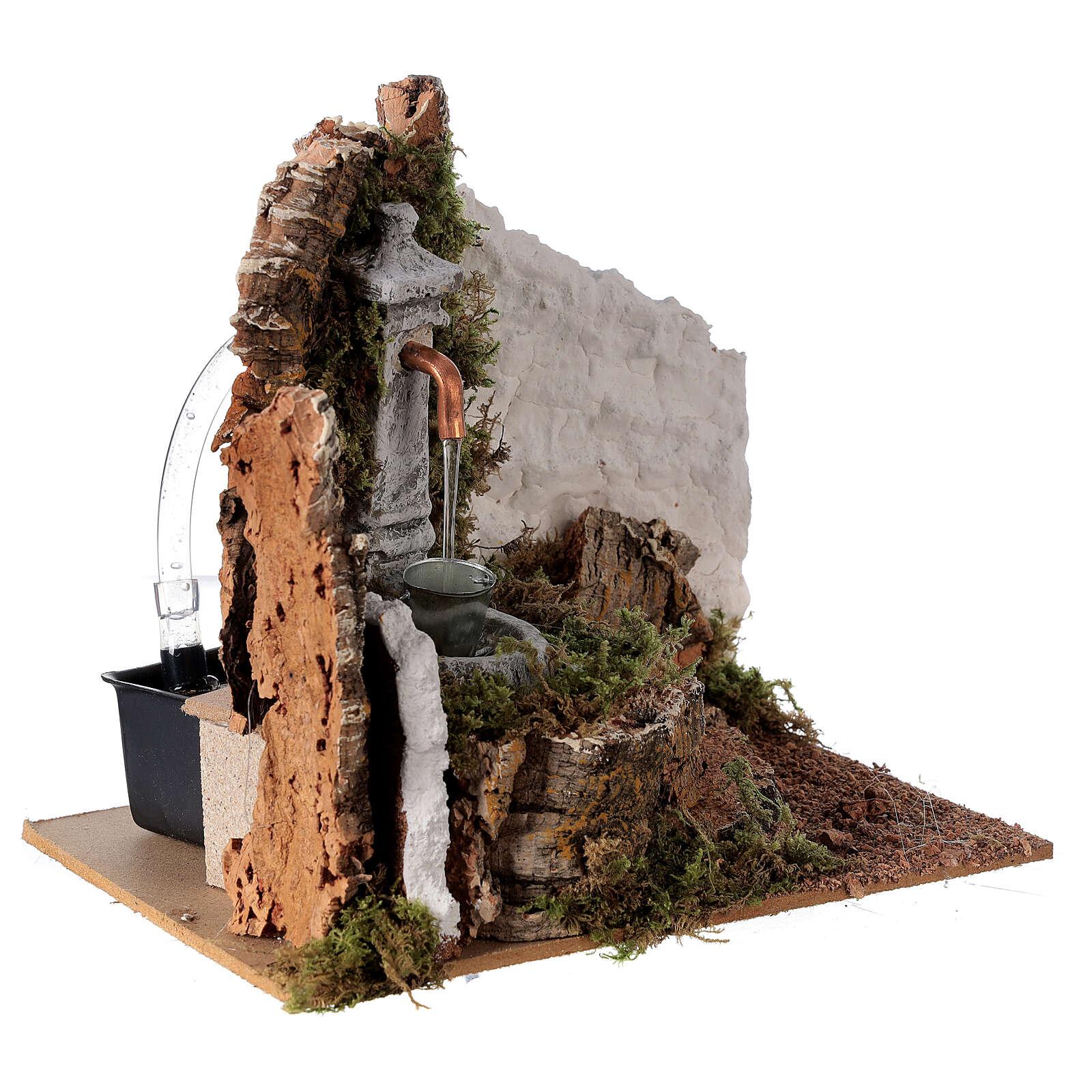 Fountain with bucket 20x20x15 cm for Nativity scene 8-10 cm 4