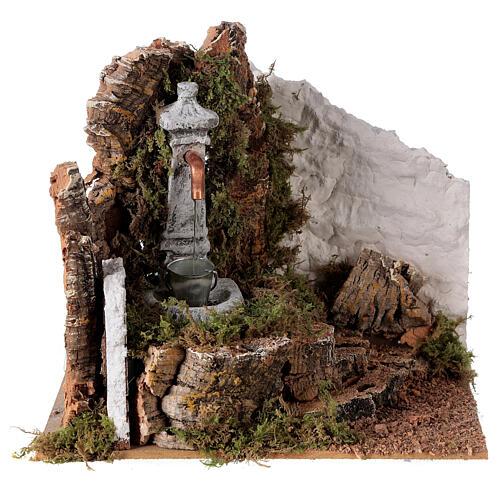 Fountain with bucket 20x20x15 cm for Nativity scene 8-10 cm 1