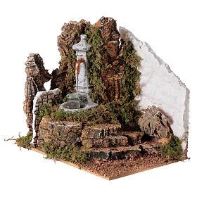 Fontana con secchio 20x20x15 cm per presepe 8-10 cm s2