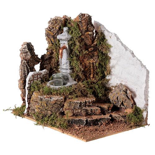 Fontana con secchio 20x20x15 cm per presepe 8-10 cm 2