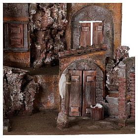 Borgo presepe illuminato con lavanderia 50x60x40 per statue 12 cm s2