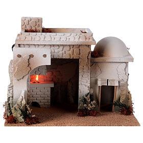 Taverne arabe four flamme fumée pour crèche 12-14 cm 25x35x25 cm s1