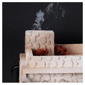 Taverne arabe four flamme fumée pour crèche 12-14 cm 25x35x25 cm s2