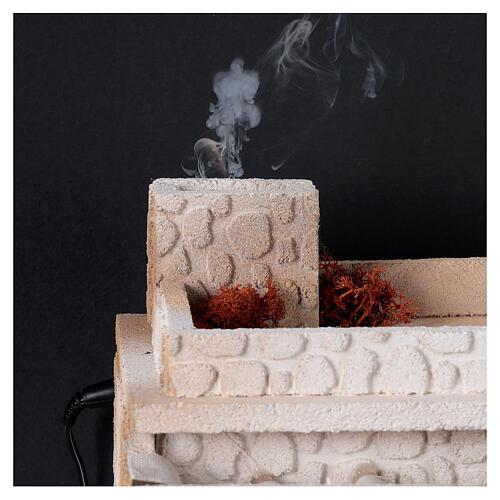 Taverne arabe four flamme fumée pour crèche 12-14 cm 25x35x25 cm 2