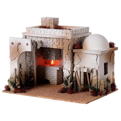 Taverne arabe four flamme fumée pour crèche 12-14 cm 25x35x25 cm 3