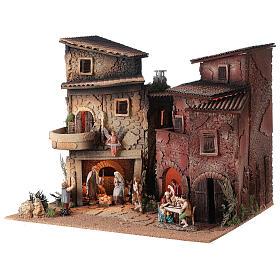 Borgo presepe completo arcata 40x50x40 statue 10 cm Moranduzzo s2
