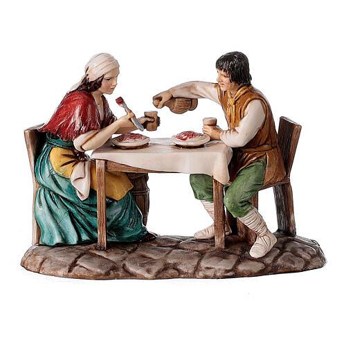 Borgo presepe completo arcata 40x50x40 statue 10 cm Moranduzzo 5