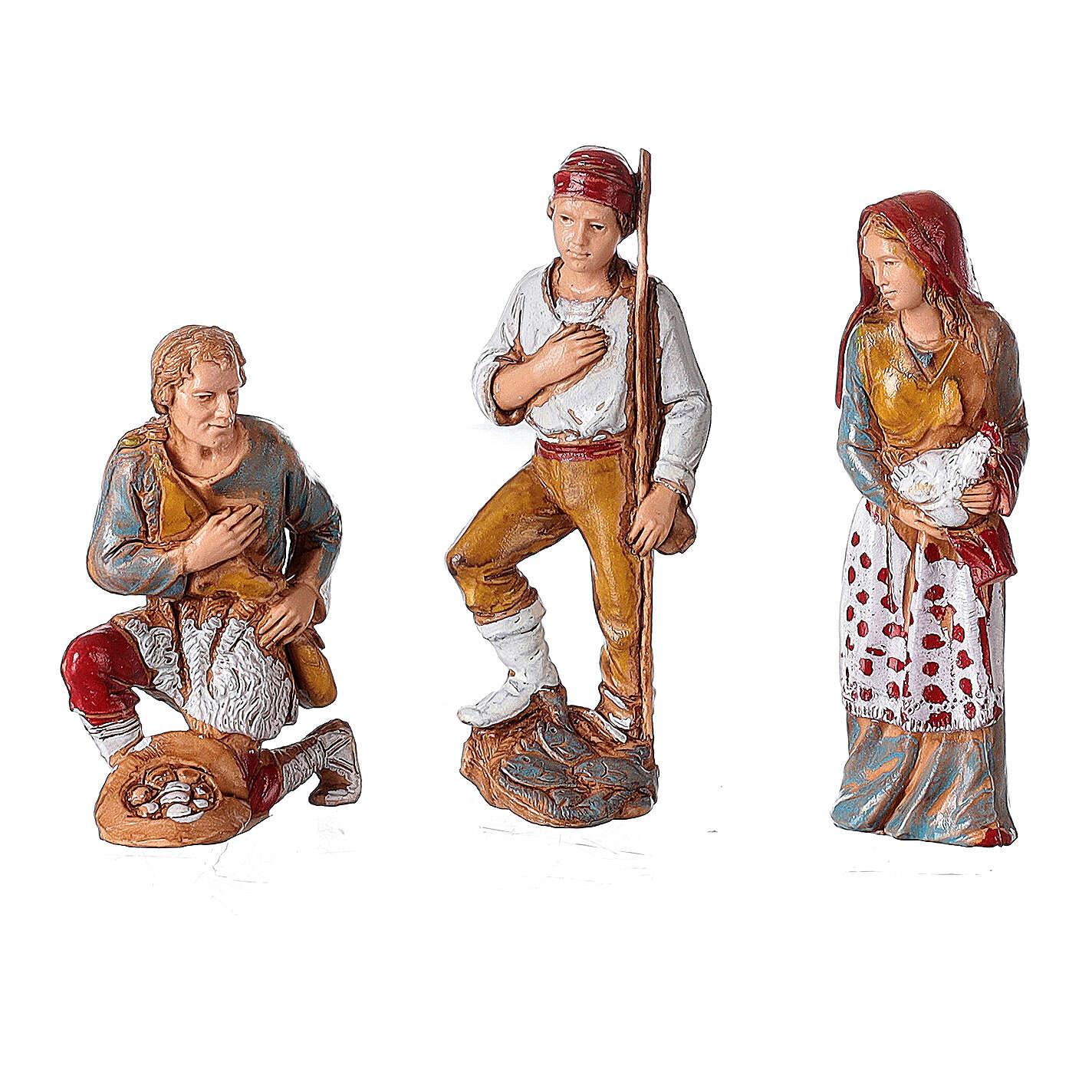 Borgo presepe illuminato terrazzo 40x50x40 statue 8 cm Moranduzzo 4