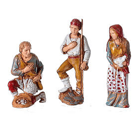 Borgo presepe illuminato terrazzo 40x50x40 statue 8 cm Moranduzzo s5