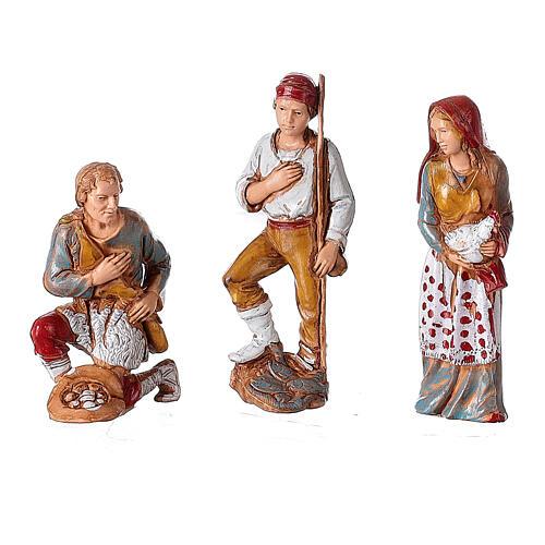 Borgo presepe illuminato terrazzo 40x50x40 statue 8 cm Moranduzzo 5
