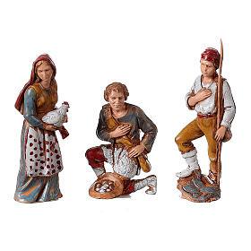 Presepe borgo completo doppia scala 40x40x30 statue 8 cm Moranduzzo s6