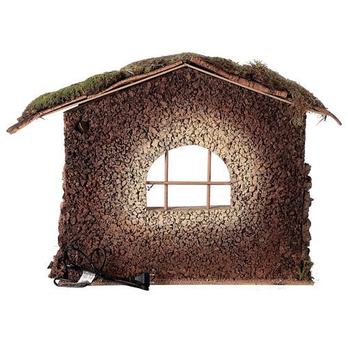 Cabane crèche feu pour Nativité 30 cm 55x60x45 cm 5