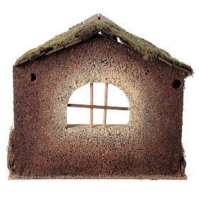 Capanna rustica Natività 20 cm tetto assi 45x50x35 cm s5