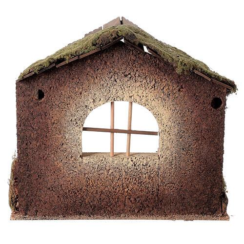 Capanna rustica Natività 20 cm tetto assi 45x50x35 cm 5