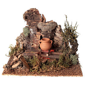 Fire with pot for Nativity scene 10-12 cm s1
