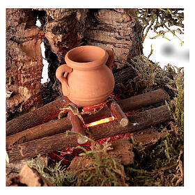 Fire with pot for Nativity scene 10-12 cm s2