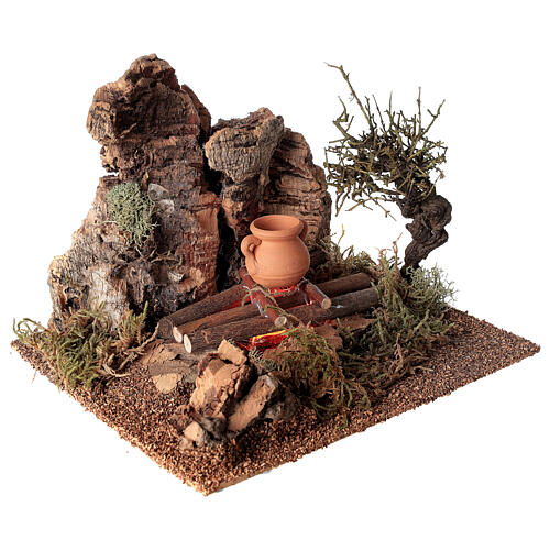 Fire with pot for Nativity scene 10-12 cm 4