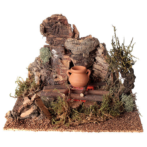 Fire with pot for Nativity Scene with 10-12 cm figurines 1