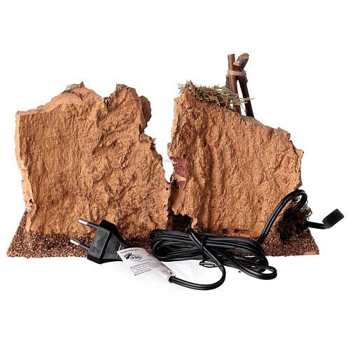Ambientazione bivacco effetto fiamma presepe 12-14 cm 5