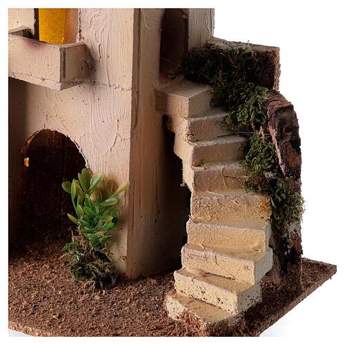 Minareto con scalinata presepe fai da te 6-8 cm 20x25x15 cm 2