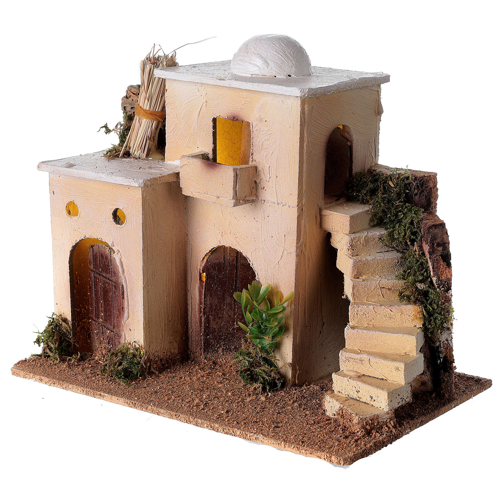 Minaret with stairs 20x25x15 cm for Nativity Scene with 6-8 cm figurines 4