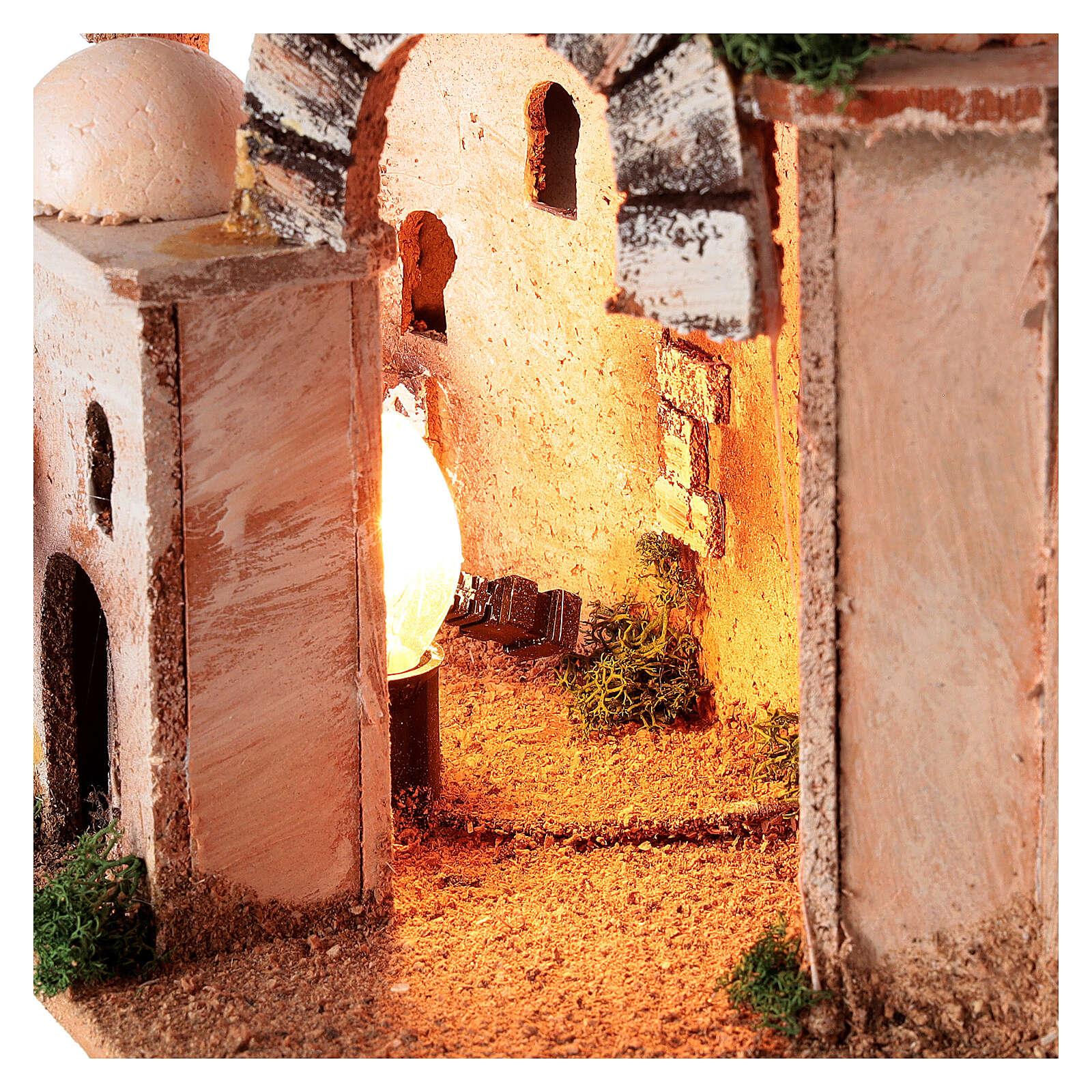 Illuminated minaret for Nativity scene 4-6 cm 15x20x15 cm 4