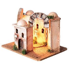 Ambientazione minareto illuminato presepe 4-6 cm 15x20x15 cm s3