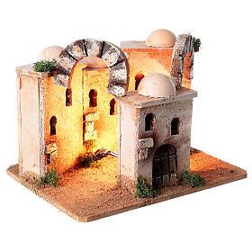 Ambientazione minareto illuminato presepe 4-6 cm 15x20x15 cm s4