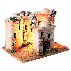 Illuminated minaret setting 15x20x15 cm for Nativity Scene with 4-6 cm figurines s4
