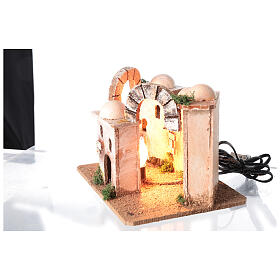 Illuminated minaret setting 15x20x15 cm for Nativity Scene with 4-6 cm figurines s5