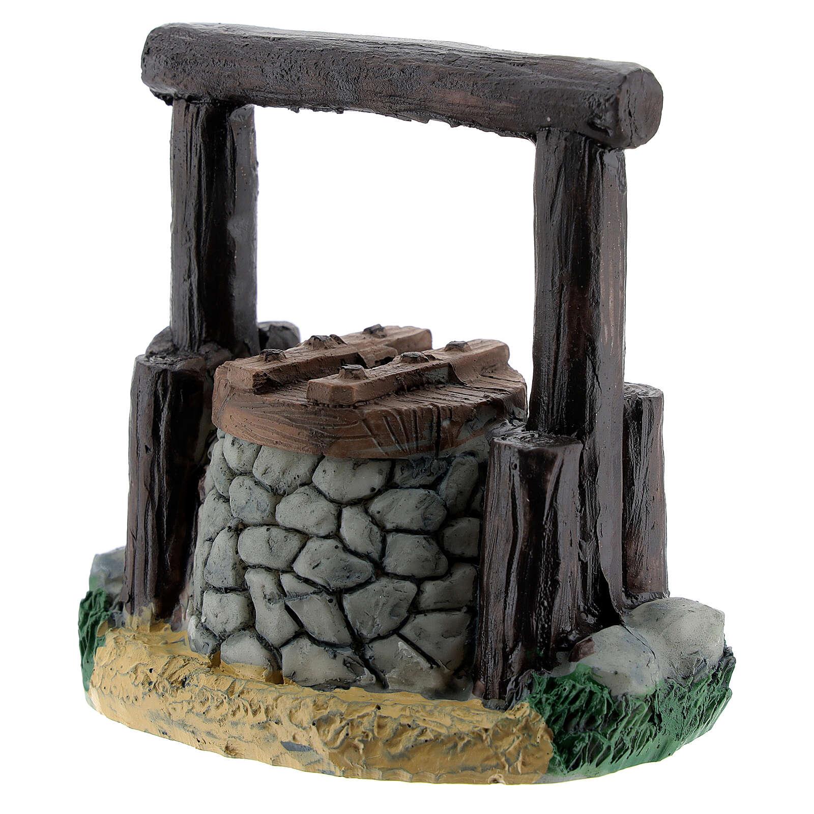 Resin waterhole 7 cm for Nativity Scene with 8-10 cm figurines 4