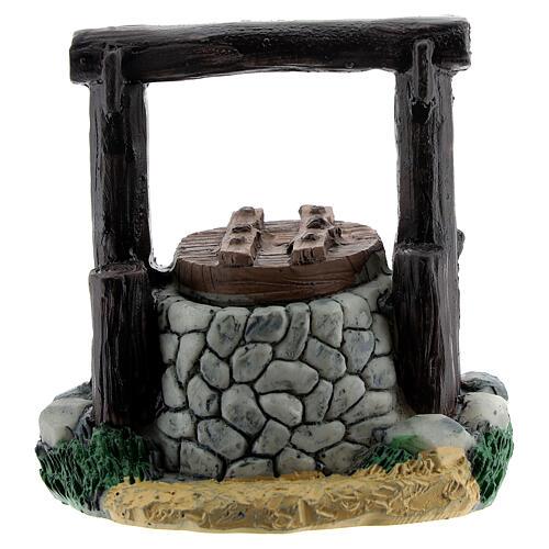 Resin waterhole 7 cm for Nativity Scene with 8-10 cm figurines 3