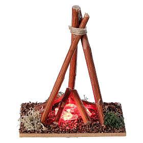 Feuerstelle mit Flammen für Krippe, 8-10 cm s1