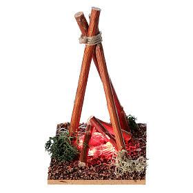 Feuerstelle mit Flammen für Krippe, 8-10 cm s2