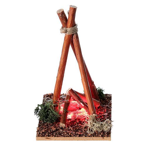 Fire effect miniature Nativity scene 8-10 cm 2