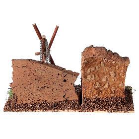 Bivaque com panela miniatura para presépio com figuras altura média 8-10 cm s4