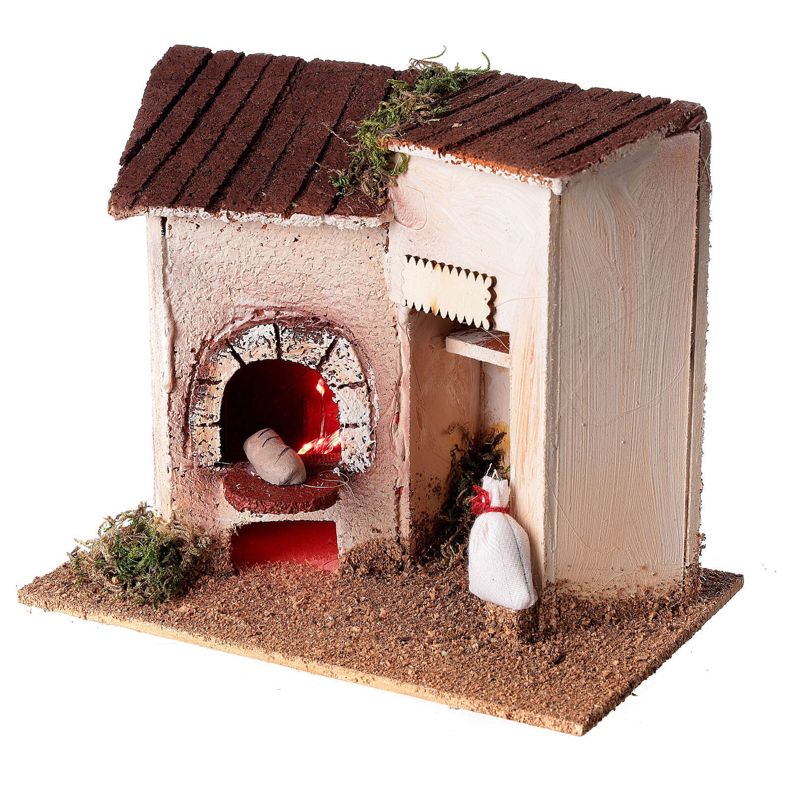 Baker's shop with bread for Nativity Scene 8 cm 15x20x10 cm 4