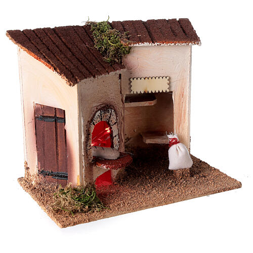 Baker's shop with bread for Nativity Scene 8 cm 15x20x10 cm 3
