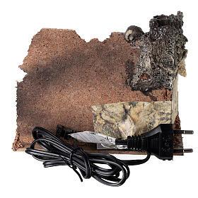 Forno angolare muratura effetto fiamma presepe 8-10 cm s5