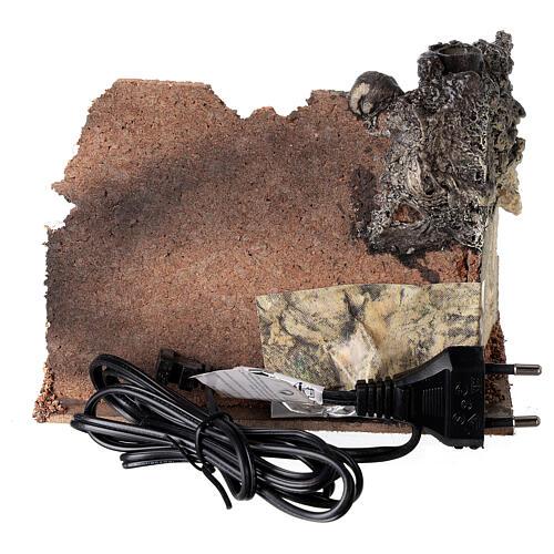 Forno angolare muratura effetto fiamma presepe 8-10 cm 5