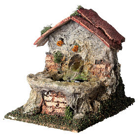 Masonry electric fountain 15x10x15 cm for Nativity Scene with 8-10 cm figurines s2