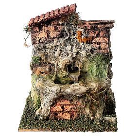 Working fountain with jug Nativity scene 10-12 cm s1