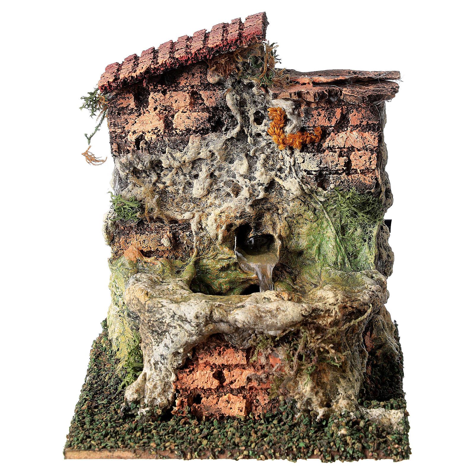 Fontana funzionante brocca presepe 10-12 cm 4
