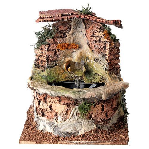 Fontana presepe funzionante sughero presepe 10-12 cm 1