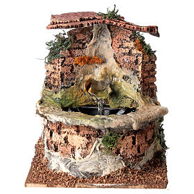 Cork electric fountain for Nativity Scene with 10-12 cm figurines s1