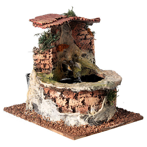 Cork electric fountain for Nativity Scene with 10-12 cm figurines 2