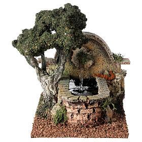 Fontana funzionante albero presepe 8-10 cm 15x10x20 cm s1