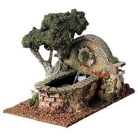 Fontana funzionante albero presepe 8-10 cm 15x10x20 cm s3
